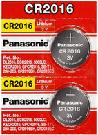 Panasonic CR2016 3 Volt Lithium Coin Cell Battery - Pack of 2 - Zoomed