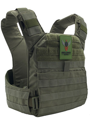 Shellback Tactical Banshee QD Quick Deployment Plate Carrier Ranger Green Front