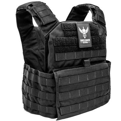 Shellback Tactical Banshee Rifle Plate Carrier Black Front