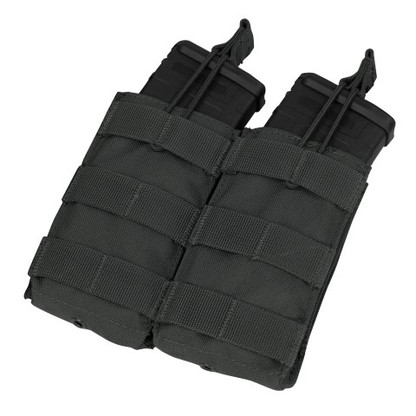 Condor Double Open Top M4 Mag Pouch Black