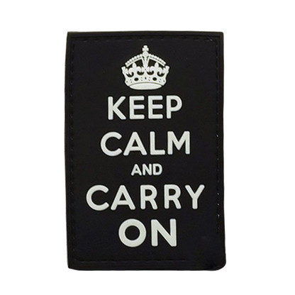 Keep Calm And Carry On PVC Morale Patch (Black)