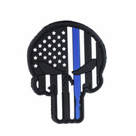 Punisher Blue Line US Flag PVC Patch
