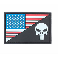 US Flag Punisher PVC Patch Black