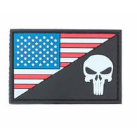 US Flag Punisher PVC Patch Black