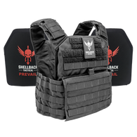 Shellback Tactical Banshee Active Shooter Kit with Level IV 1155 Plates Black