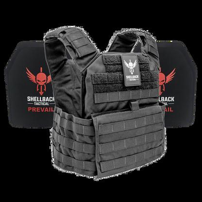 Shellback Tactical Banshee Active Shooter Kit with Level IV 1155 Plates Black
