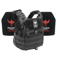 Shellback Tactical Banshee Elite Black Active Shooter Kit with IV Plates