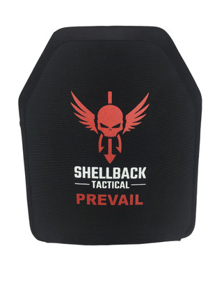 SHELLBACK TACTICAL - Prevail Series Level IIIA+ Hard Body Armor (MODEL 1003) Plate Black Front