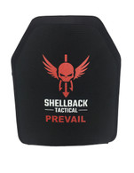 SHELLBACK TACTICAL - Prevail Series Level IIIA 10 X 12 Hard Armor (Model 0226) Stand Alone Plate  Black Front