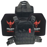 Shellback Tactical Defender Active Shooter Kit with Level IV 1155 Plates Black