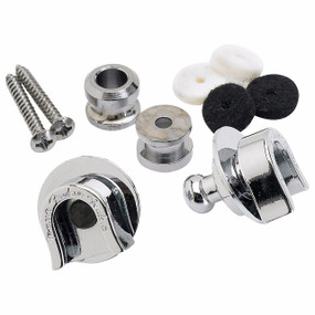 Fender Elite Guitar Strap Locks and Buttons, Chrome (099-0690-000)