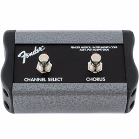 Fender 2-Button Footswitch with 1/4 Inch Jack, Channel/Chorus On/Off (099-4057-000)
