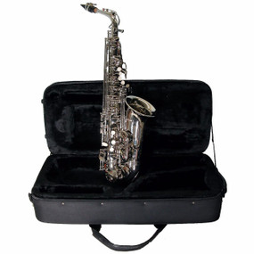 Mirage SX60ANI Student Eb Alto Saxophone w/Case & Accessories, Nickel Finish