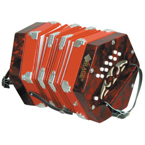 Mirage C7001 20 Button 40 Reed Concertina Accordion with Hard Case (C7001)
