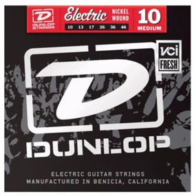 Dunlop DEN1046 Nickel Steel Electric Guitar Strings, Medium 10-46 (DEN1046)