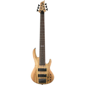 ESP LTD B-206SMNS Spalted Maple Top 6-String Electric Bass Guitar, Natural Satin