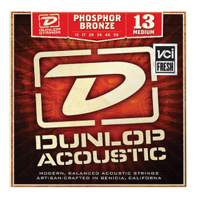 Dunlop DAP1356 Medium Phosphor Bronze Acoustic Guitar Strings, .013-.056 (DAP1356)