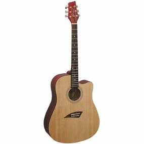 Kona K1 Series Dreadnought Acoustic Guitar, Natural Satin (K1N)