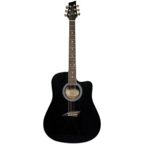 Kona K1E Dreadnought Acoustic Electric Guitar, Black (K1EBK)