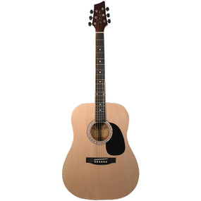Kona K41 Full Size 6-String Dreadnought Acoustic Guitar, Natural Finish