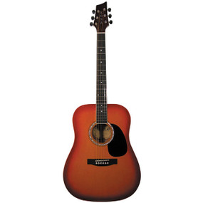 Kona K41 Full Size 6-String Dreadnought Acoustic Guitar, Cherry Sunburst