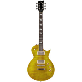 ESP LTD Eclipse EC-256FM Flame Maple Top Solid-Body Electric Guitar, Lemon Drop