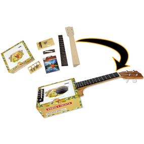 ​C.B. Gitty Complete Cigar Box Concert Ukulele DIY Kit with All Parts and Hardware Included to Build it Yourself (36-009-01)