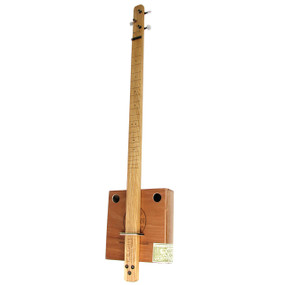 """Pure & Simple"" 3-String Cigar Box Guitar Kit Complete with All Parts and Hardware"