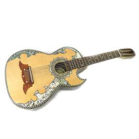 Paracho Elite Alvarado Solid Cedar Top 12-String Bajo Sexto Guitar, Natural (ALVARADO)