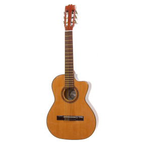 Paracho Elite DEL RIO Classical Requinto Acoustic Guitar with Solid Cedar Top , Natural (DELRIO)