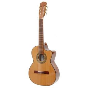 Paracho Elite Gonazales Solid Cedar Top Nylon String Requinto Guitar, Natural (GONZALES)