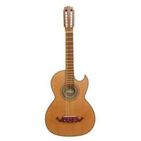 Paracho Elite Hidalgo Solid Cedar Top Thin Body 12 String Bajo Sexto Guitar, Natural (HIDALGO)