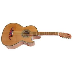 Paracho Elite Laredo Solid Cedar Top 10 String Traditional Bajo Quinto Guitar, Natural (LAREDO)