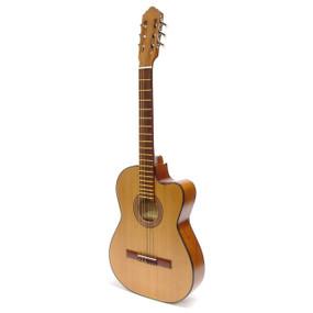 Paracho Elite San Benito Solid Cedar Top Thin Body Classical Guitar, Natural (SANBENITO)