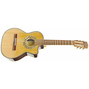 Paracho Elite Zapata Solid Cedar Top Nylon 6 String Requinto Guitar, Natural (ZAPATA)