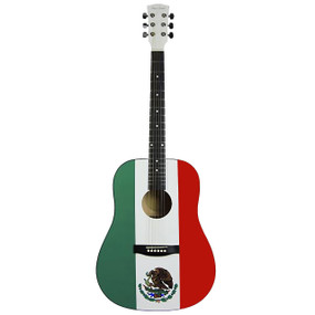 Main Street MAMF Graphic Top Dreadnought Acoustic Guitar, Mexican Flag (MAMF)
