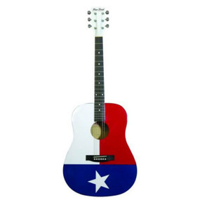 Main Street MATXF Texas Flag Design Dreadnought Acoustic Guitar (MATXF)