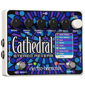 Electro-Harmonix CATHEDRAL Deluxe Programmable Stereo Reverb Effects Pedal