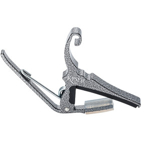 Kyser KG6SV Quick Change 6-String Acoustic Guitar Capo, Silver Vein