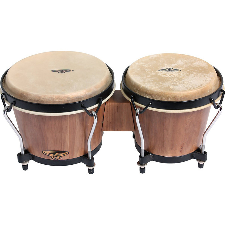 "Latin Percussion CP221 Tunable 6"" & 7"" Bongos, Dark Wood Finish"