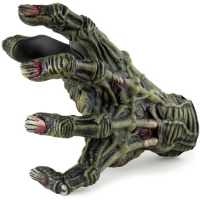 Guitar Grip LHGH133 Ghastly Series Left Hand Facing Guitar Hanger, Toxic Zombie