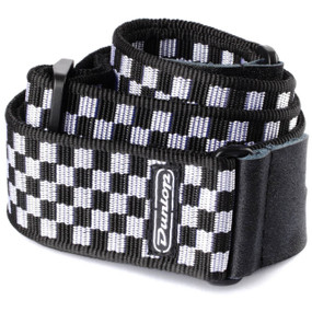 Dunlop D38-31BK Black and White Checkered Guitar Strap