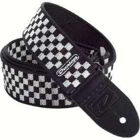 Dunlop D38-31BK Black and White Checkered Guitar Strap