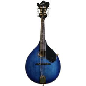 Washburn M1SDLTBL Americana Series A-Style Mandolin, Trans Blue
