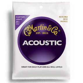 Martin M175PK3 Custom Light 80/20 Bronze Acoustic Guitar Strings 3-PACK