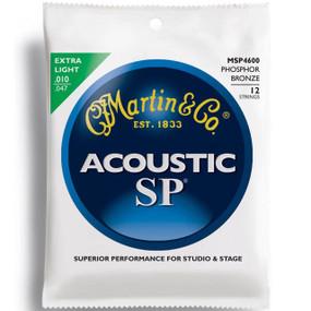 Martin MSP4600 SP Phosphor Bronze 12-String Acoustic Guitar Strings, Extra Light