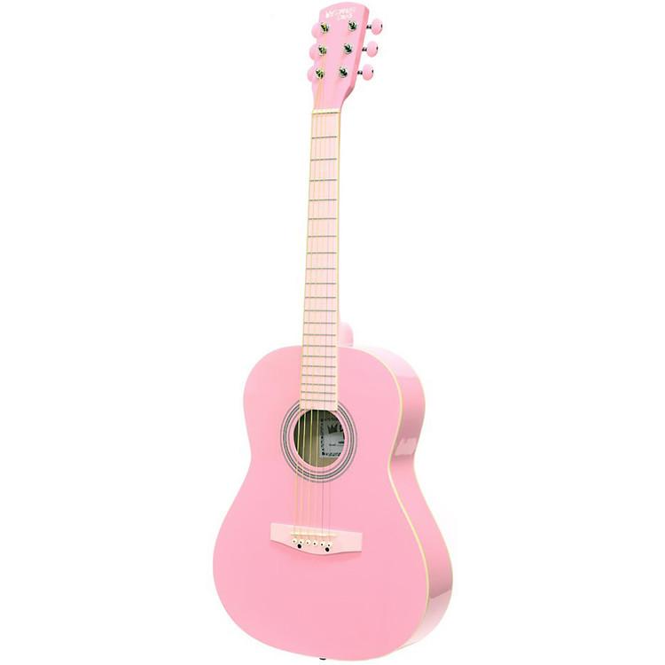 """Darling Divas DDPKG02PK 36"""" Steel String Acoustic Guitar Pack, Cotton Candy Pink"""
