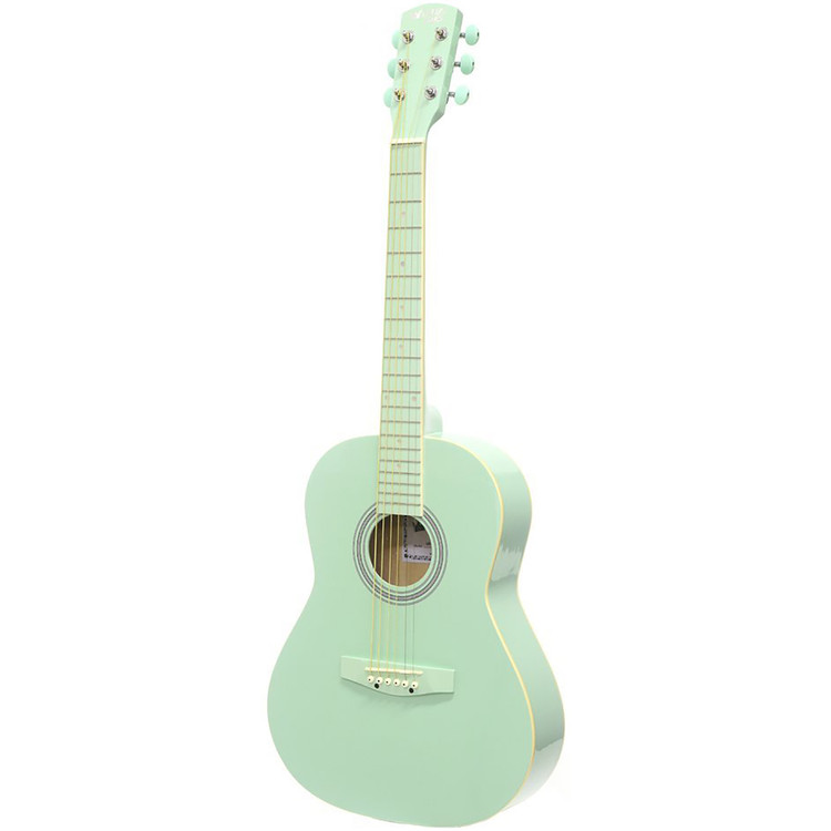 """Darling Divas DDPKG02GR 36"""" Steel String Acoustic Guitar Pack, Surf Green"""