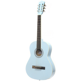 "Darling Divas DDPKG03BL 36"" Nylon String Acoustic Guitar Pack, Powder Blue"