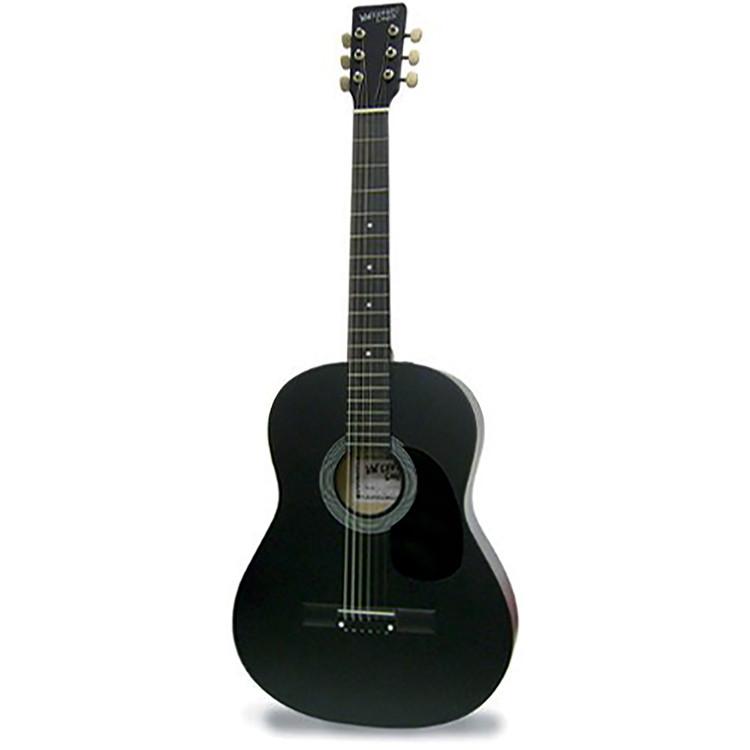 "Darling Divas DDPKG12BK 39"" Steel String Acoustic Guitar, Voodoo Black"